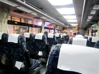 関西空港のリムジンバス車内