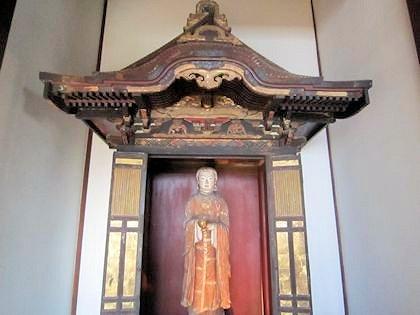 飛鳥寺の聖徳太子孝養像