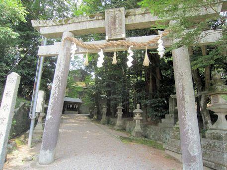The torii gate of Himuro jinja Shrine