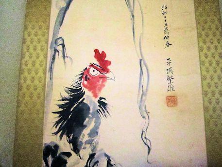 軍鶏の掛軸