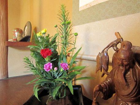 客室の活花