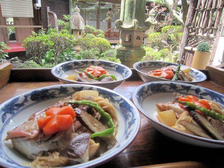 鯛素麺と灯籠