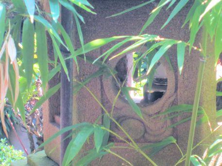 濡鷺型燈籠の火袋