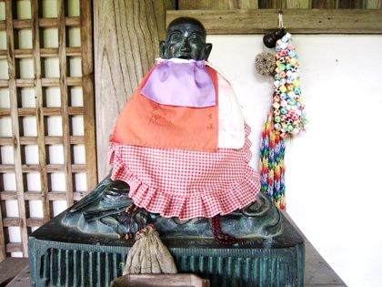 長岳寺の賓頭盧尊者
