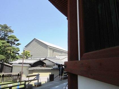 再建中の興福寺中金堂